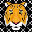 Tiger Face Tiger Cartoon Icon