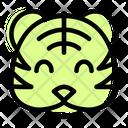 Tiger Smiling Icon