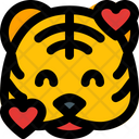 Tiger Smiling With Hearts Icon