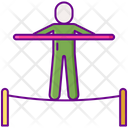 Tightrope Walker Acrobatic Plate Spining Icon
