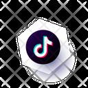 Tiktok Social Media Communication Icon