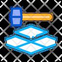 Tile Hammer Tiler Icon