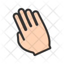 Tilted Hand Gesture Icon