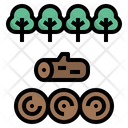 Timber Forest Log Icon