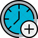 Time Add Clock Icon