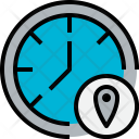Time Location Clock Icon