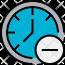 Time Remove Clock Icon