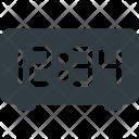 Time Clock Digital Icon