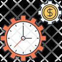 Time Money Cogwheel Icon