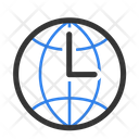 Time Web Time Global Time Icon