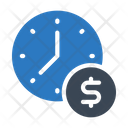 Time Clock Dollar Icon