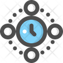 Time Global Time Zone Icon