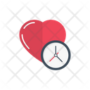 Time Medical Heart Icon