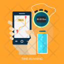 Time Running Maps Icon