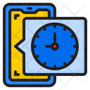 Time Clock Phone Icon