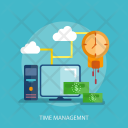 Time Management Money Icon