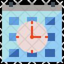 Time Clock Calendar Icon