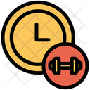 Clock Time Gym Time Icon