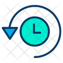 Clock Time Management Time Rotation Icon