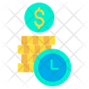 Time And Money Invest Time Investment Time Icon