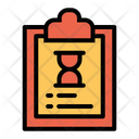 Clipboard Hourglass Limited Time Icon