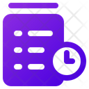 Shopping Clipboard Time Icon