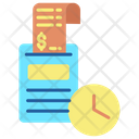 Time Clock Payment Time Invoice Payment Time Icon