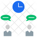 Time Conversation Icon