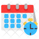 Time Date Time And Date Schedule Icon