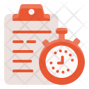 Clipboard Stopwatch Gym Icon