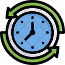 Online Shopping Time Duration Clock Icon