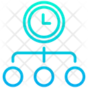 Time Management Time Schedule Time Flow Icon