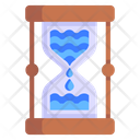 Time Flows Hourglass Water Sandglass Icon