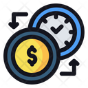 Time For Money Management Time Management Icon