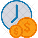 Money Time Is Money Dollar Symbol Icon