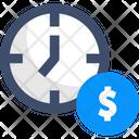Money Time Is Money Clock Icon