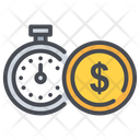 Clock Dollar Money Icon