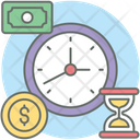 Time Is Money Business Time Financial Time Icon