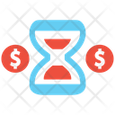 Time Is Money Money Time Management Icon