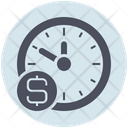 Business Time Is Money Dollar Icon
