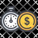 Clock Dollar Money Icon