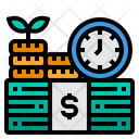Time Is Money Money Time Icon