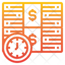Time Is Money Money Stack Icon