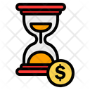 Time Is Money Hourglass Productivity Icon