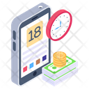 Financial App Time Is Money Mobile App Icon