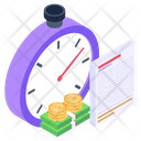 Cash Productivity Financial Efficiency Time Is Money Icon