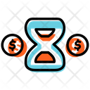 Time Is Money Hourglass Money Icon