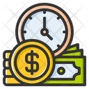 Time Is Money Business Time Money Icon