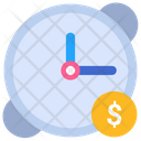 Time Is Money Clock Coin Icon