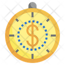 Time Is Money Time Balance Clock Icon